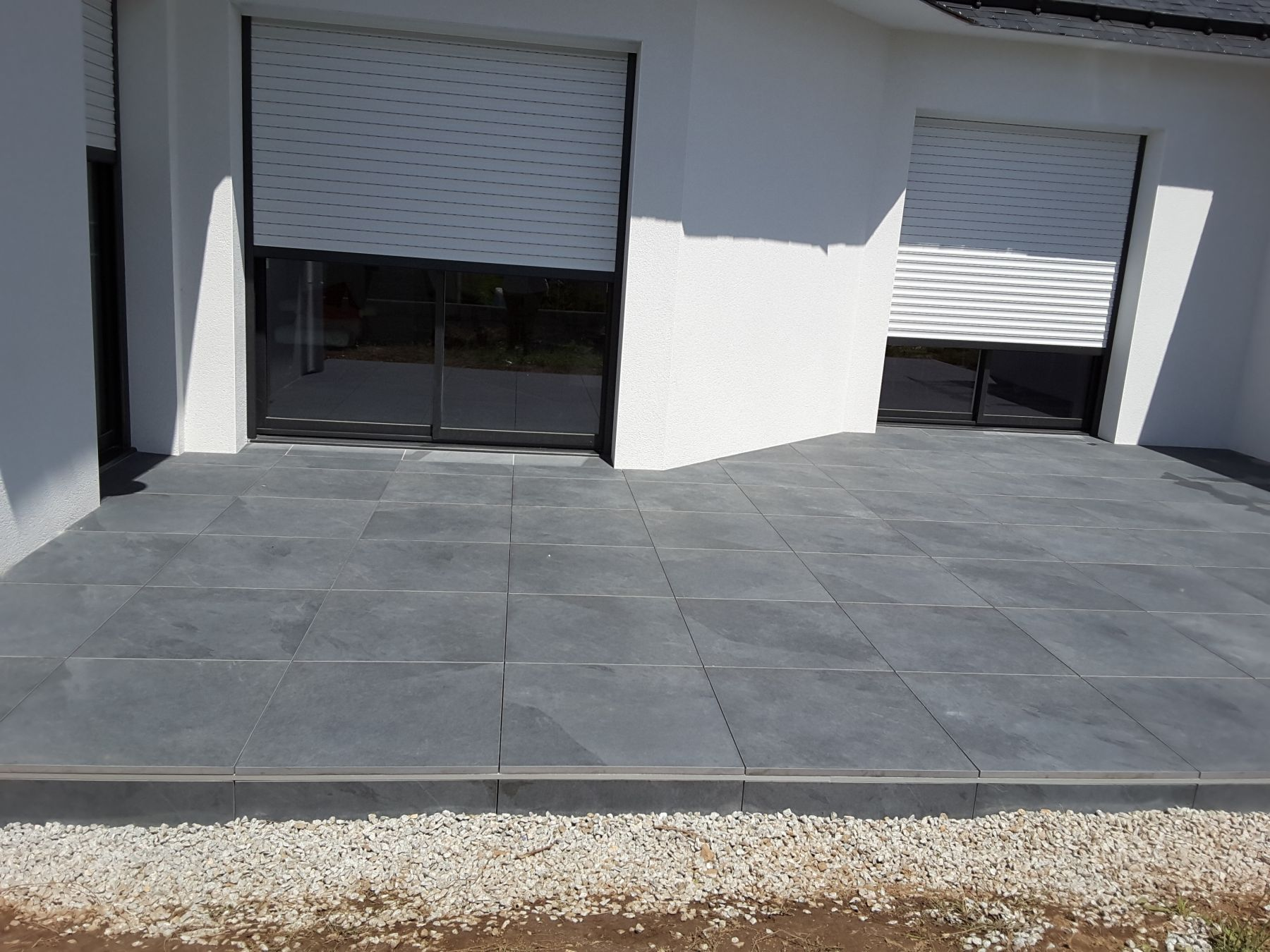 Carrelage terrasse for Pose dalles sur plots
