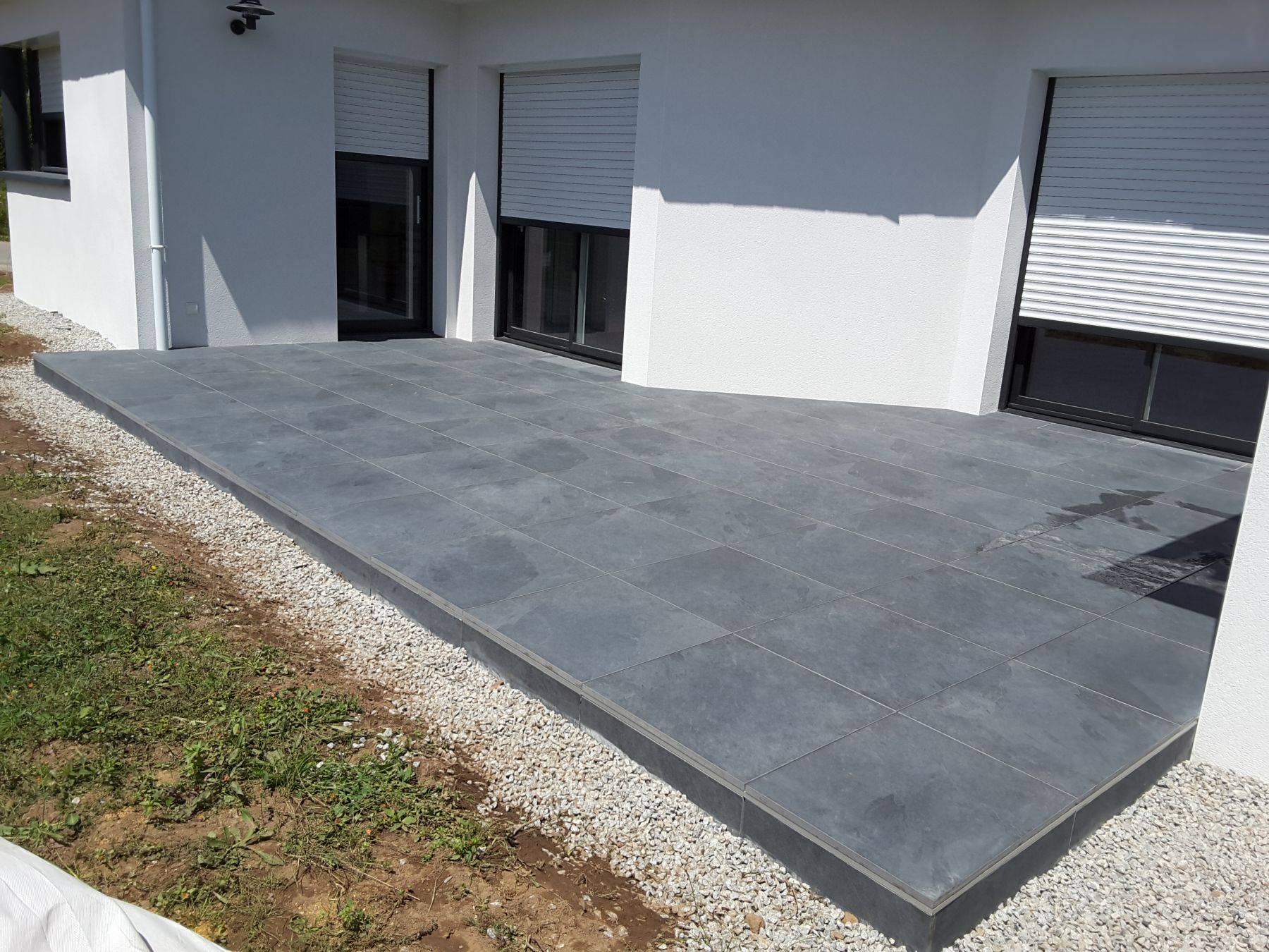 Carrelage terrasse for Terrasse bois sur plot